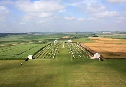Blick über die australische Gedenkstätte von Villers-Bretonneux